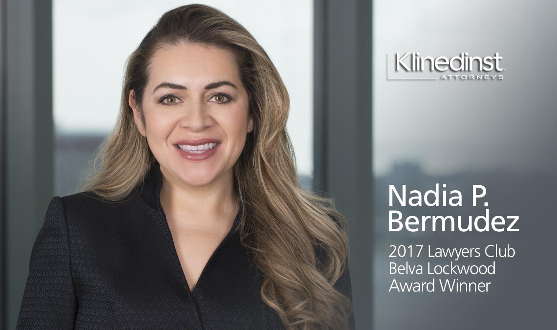 Nadia P. Bermudez, 2017 Belva Lockwood Award Winner
